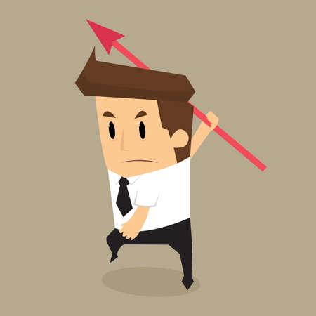 throw: businessman throw arrow.vector
