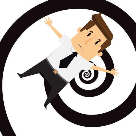disordered: Businessman get confused.vector