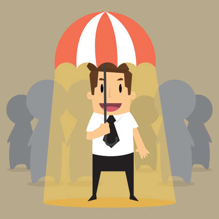 possession: businessman outstanding in worker.vector
