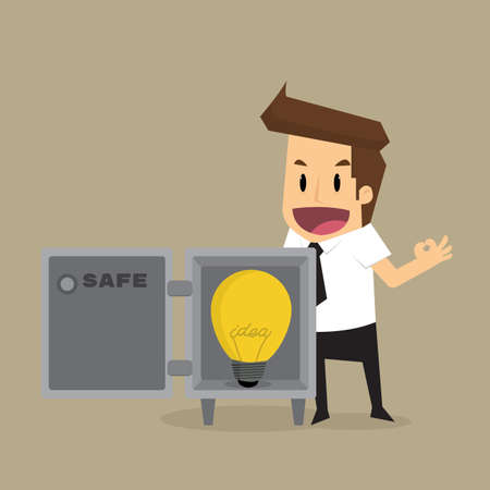 Businessman safe idea.vector