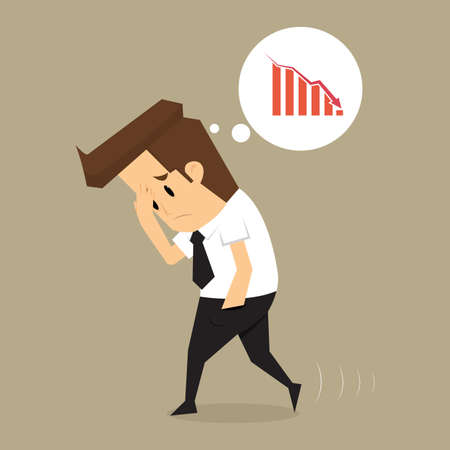 exchange loss: Businessman fail .vector