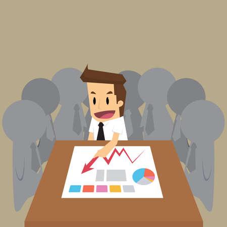 teammate: businessman team meeting.vector