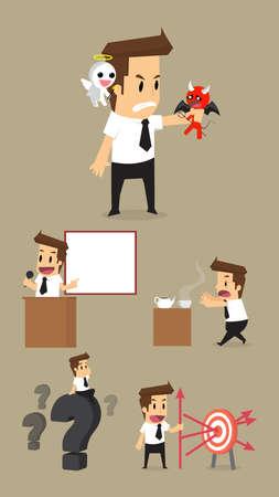 bad leadership: Set,Businessman Character.vector