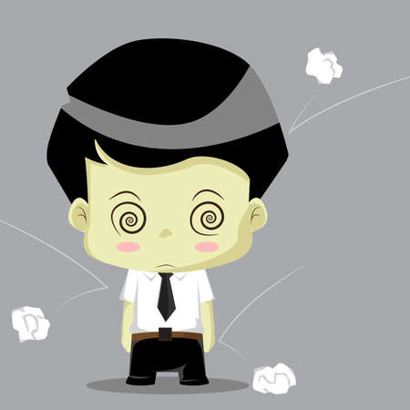 stumped: Businessman working daze.vector