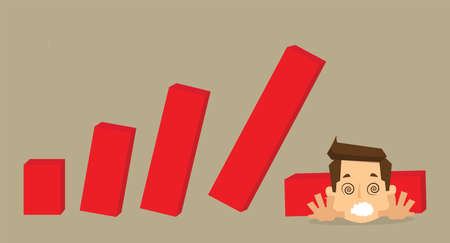 looser: crisis with unstable statistic bars Illustration