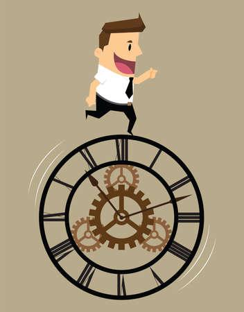 hustle: Concept of businessman mechanism system