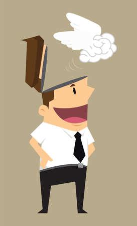 independent: businessman brain independent