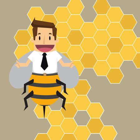 honeycomb like: businessman bee