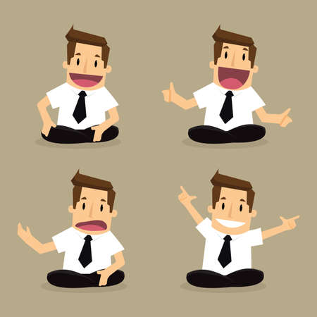 concede: businessman seat Illustration