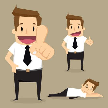 great success: Businessman character Vector