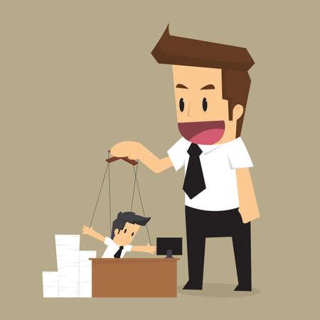 autoridad: controlar Empresario t�tere. Cuerdas y autoridad. vector Vectores