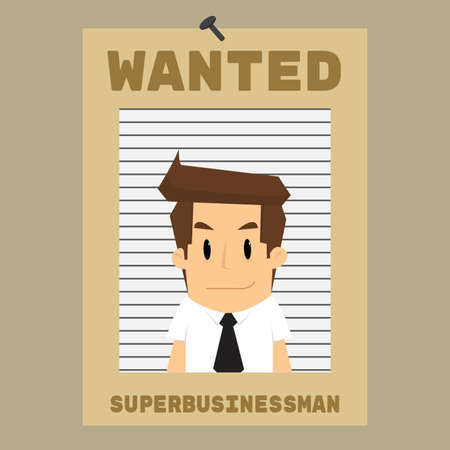 needed: businessman was needed, wanted. vector Illustration