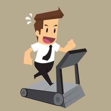Zakenlieden Fitness. vector Stock Illustratie