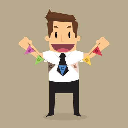 businessman label success. vector