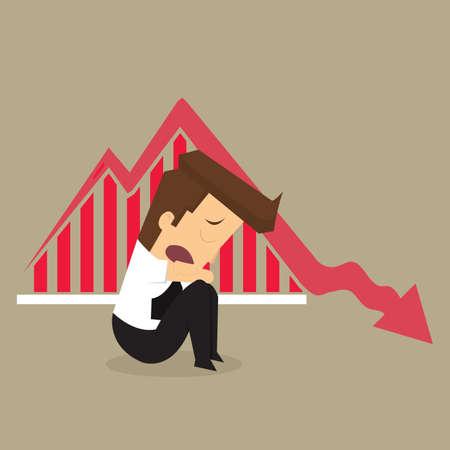 fail: Businessman fail .vector