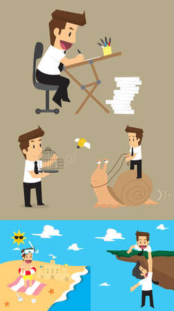 liberate: Set,Businessman Character. vector