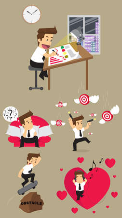 sharpshooter: Set,Businessman Character. vector