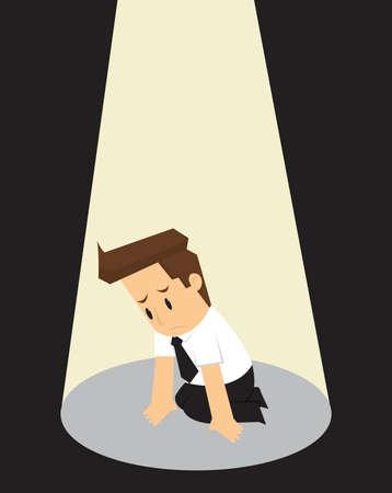 layoff: businessman at layoff, unemployed. vector