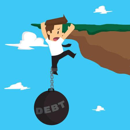 liability: Businessman with a liability risk. vector Illustration