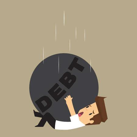 pendulum: Business travelers are male pendulum drop slash liabilities. vector Illustration