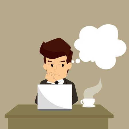 business man decide in your work. vector