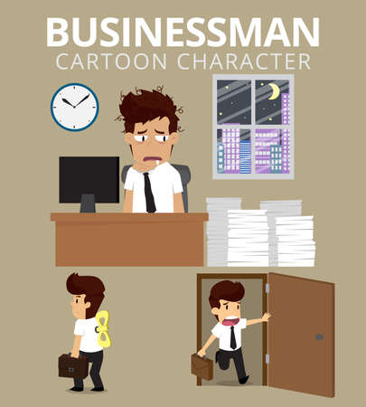 Set,Businessman Character. vector