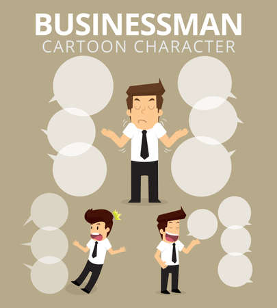 boast: Set,Businessman Character. vector
