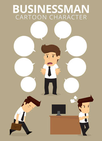 personality: Set,Businessman Character. vector