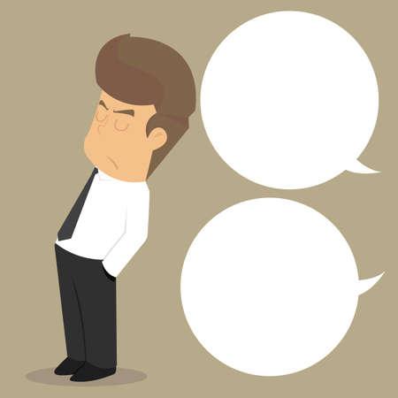 Businessman dont care speech. vector