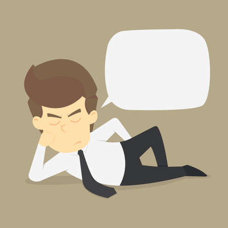 disputed: Businessman talking disputed issues.vector