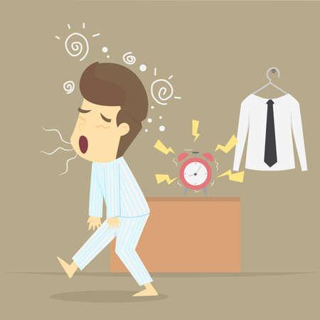 L'uomo d'affari sveglia presto