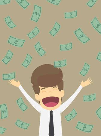 ignorance: businessman with money.VECTRO