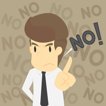 A businessman and refuses the proposal.VECTOR Illustration