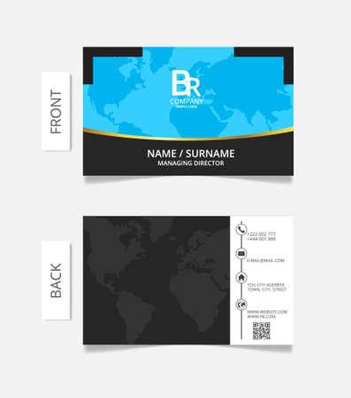 businesscard: Business card modern design vector illustration. Illustration