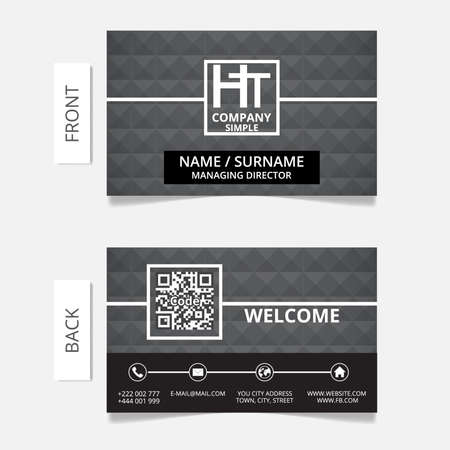 Business card modern design Illustration
