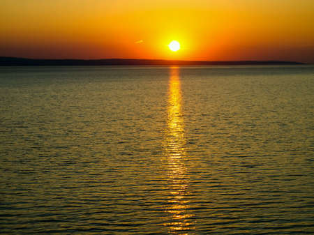 volga: Sunset over the Volga river