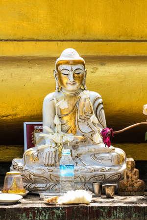 jade: jade white budha in myanmar