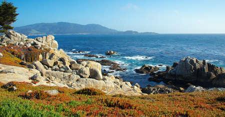 Ocean Near Pebble Beach California Фото со стока