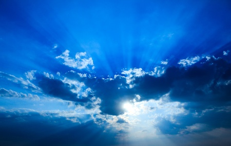 Beautiful dramatic sky with sun rays. Stock Photo - 8527734