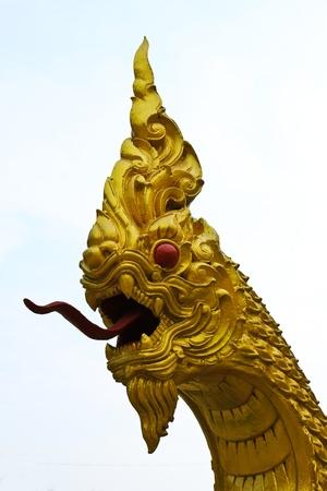 Thai dragon or king of Naga statue. Stock Photo - 9779955