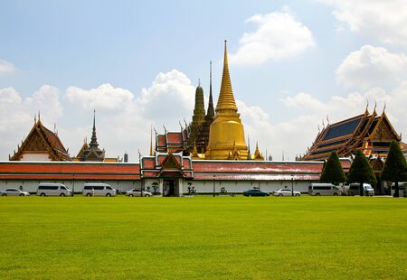 Grand Palace, the major tourism attraction in Bangkok, Thailand. photo