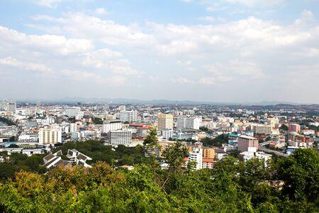 Pattaya vue sur la ville � vol d'oiseau, de la Tha�lande.