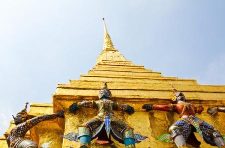 Gardien de Wat Pra Kaew Grand Palais, Bangkok, Tha�lande.