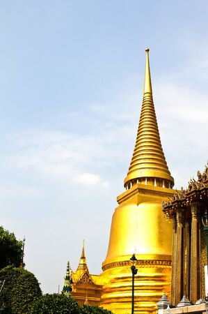 The pagoda of Wat Phra Kaew ,Thailand. photo