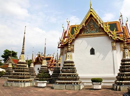 Wat Pho, The Temple of reclining buddha, Bangkok, Thailand. photo