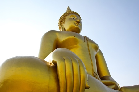 Big buddha statue at Wat muang, Thailand. Stock Photo - 12054318