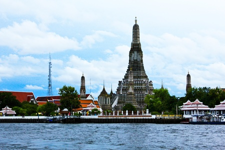 The Temple of Dawn, Wat Arun, on the Chao Phraya river in Bangkok, Thailand