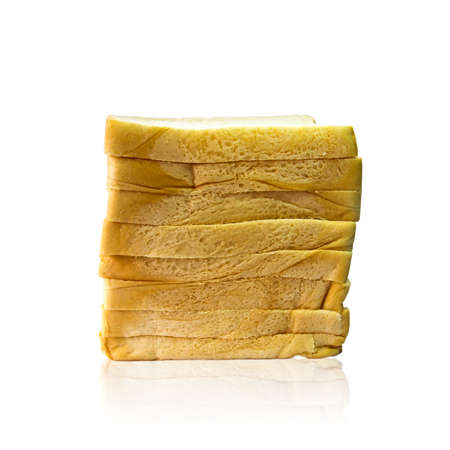 Loaf of bread isolated on white background. photo