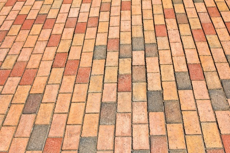 Brick pavement in a city photo