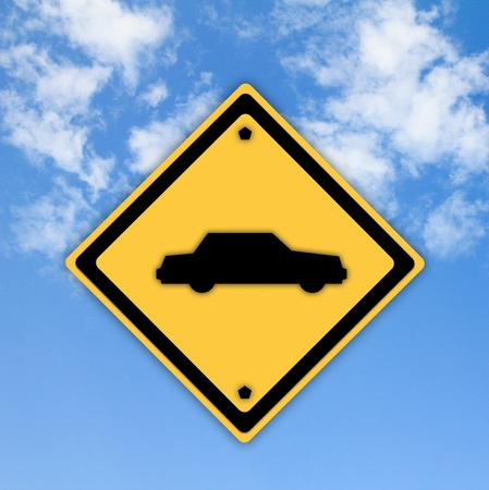 Car or Automobile sign on beautiful sky background. photo